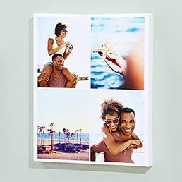 Photo canvas with scencic photo from travels