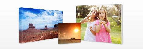 fotos em tela