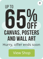 Up to 65% OFF Canvas, Posters and Wall Art