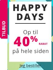 Happy Days Op til 40% rabat på hele siden!