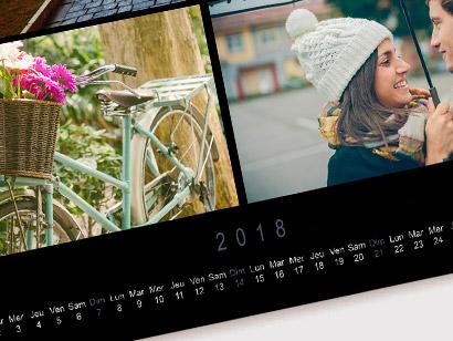 Calendrier luxe carré photobox
