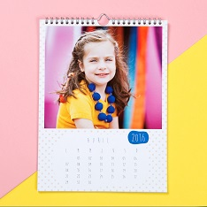 Personalised Calendar hanging on wall