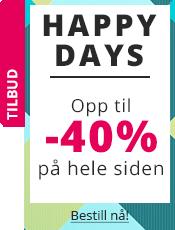 Happy Days Opp til -40% på hele siden !