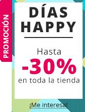 Días Happy ¡Hasta -30% en toda la tienda!