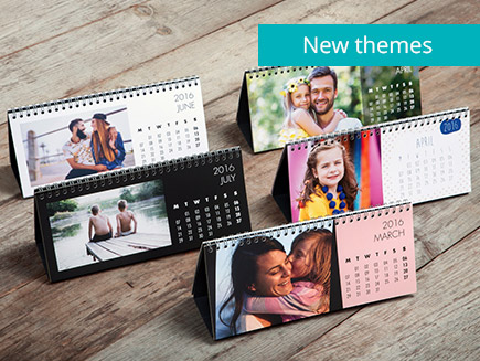 various themes of desk calendar