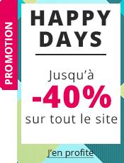 Happy Days Jusqu'à -40% sur tout le site !