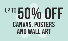 Up to 50% OFF Canvas, Posters and Wall Art
