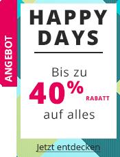 Happy Days Bis -40% auf alles!