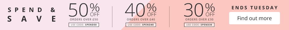 Spend & Save – up to 50% off