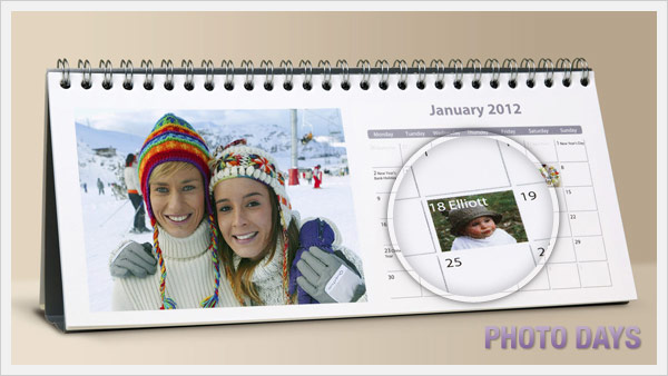 Photo days on Desk Calendars