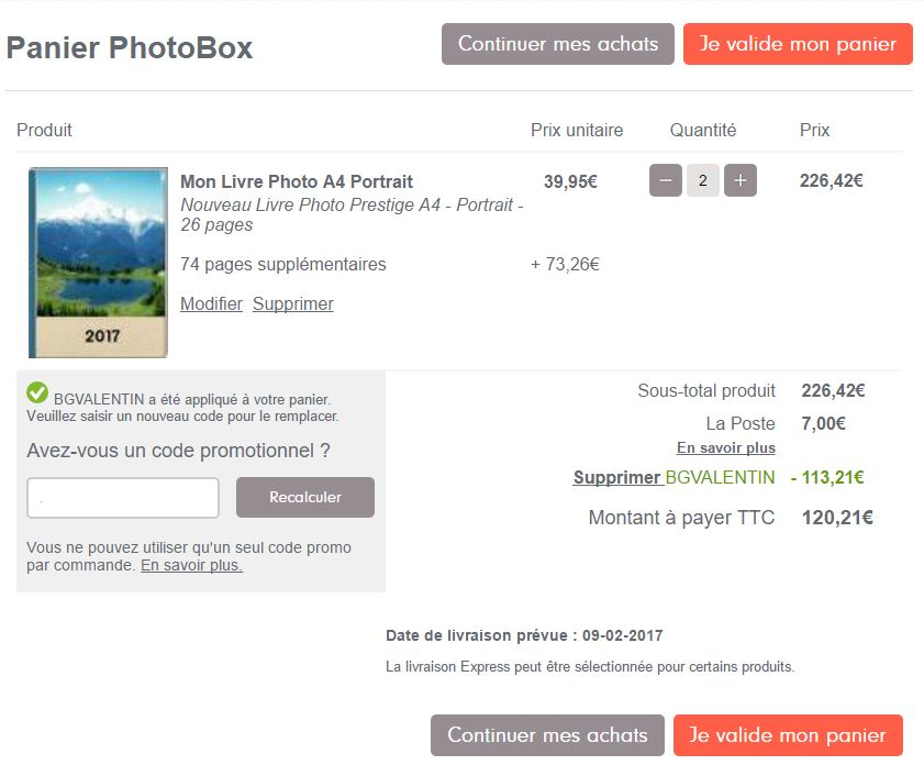 credit pack photobox