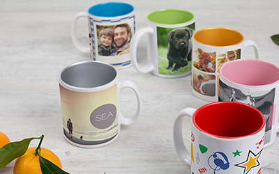 Personalised mugs with printed photo