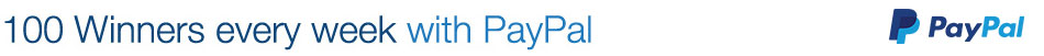 100 Winners every week with PayPal