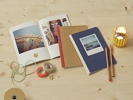 Personalised and handcraft decorated photo journals