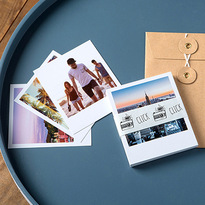 Retro prints personalised with photos and text