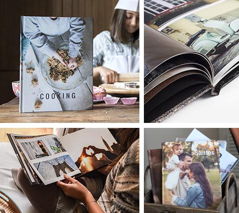 Com o foto livo ou Photobook pode contar a sua história