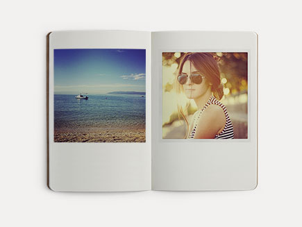 Artistic photos printed in the photo journal