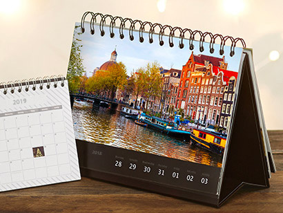 Calendrier bureau luxe photobox