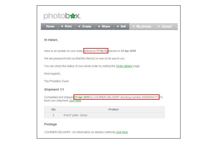 Where is my order? | Photobox