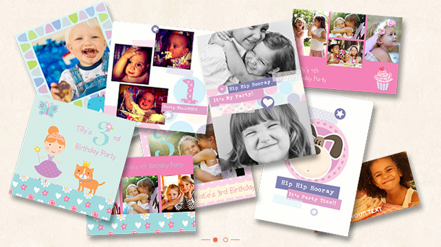 personalised kids party invitations photo cards photobox