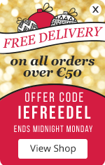 Free delivery on all orders over €50 - Offer code: IEFREEDEL