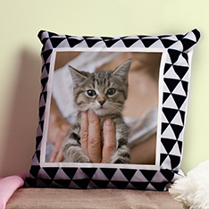 Personalised Cushion with cat photo printed on