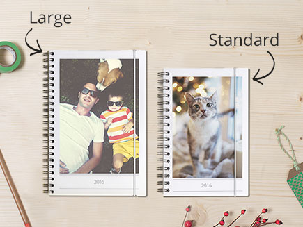 large and small photo diaries