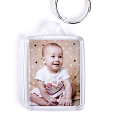 Key ring with photo of baby