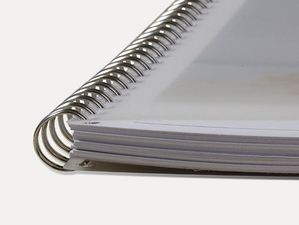 spiral spine of photo diary
