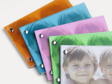 5 colours of plastic covers for mini book