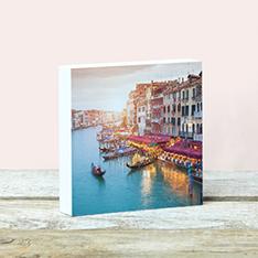 Fotoblock aus Holz mit einem Venedig-Motiv