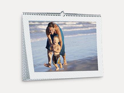 photo calendar hanging on a wall
