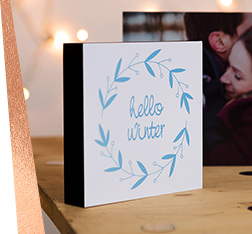 Xmas themed Photo blocks with photo and message