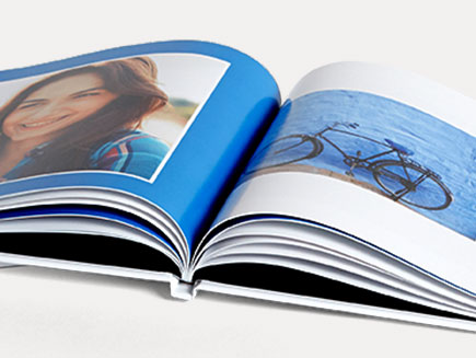 Glossed premium pages in Pantone Photo album