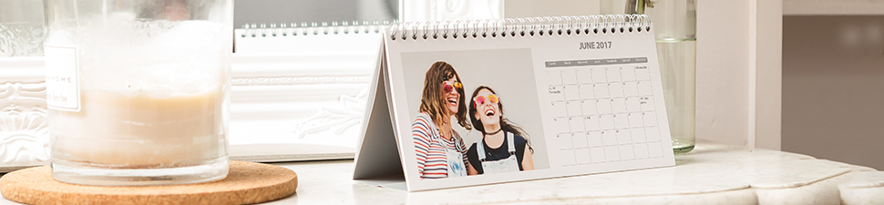 Personalised calendars, photo diaries and desk calendars